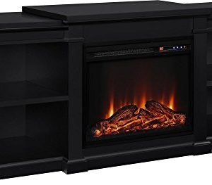 Ameriwood Home Manchester Electric Fireplace TV Stand For TVs Up To 70 Black 0 300x263