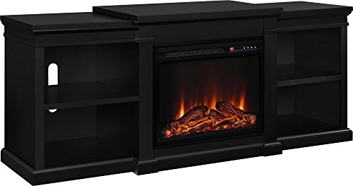 Ameriwood Home Manchester Electric Fireplace TV Stand For TVs Up To 70 Black 0