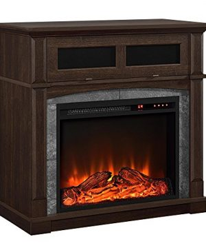 Ameriwood Home Thompson Place Media Fireplace For TVs Up To 37 Cherry 0 300x360