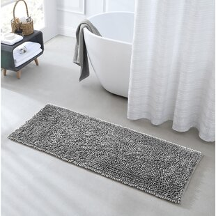 Stripe bath rug Brown linen bath mat rug Farmhouse decor Earth colors bathroom decor rustic Organic bath mat Double layered linen