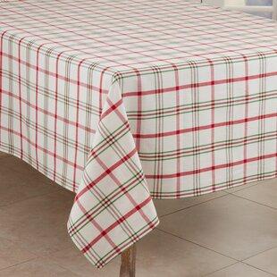 Aomame+Plaid+100+Cotton+Square+Tablecloth