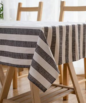 Aquazolax Weights Farmhouse Tablecloth Rustic Wedding Parties Stripe Pattern Table OverlayDecorations 54 X 84 Inch Black 0 300x360