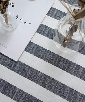 Aquazolax Weights Farmhouse Tablecloth Rustic Wedding Parties Stripe Pattern Table OverlayDecorations 54 X 84 Inch Black 0 4 300x360