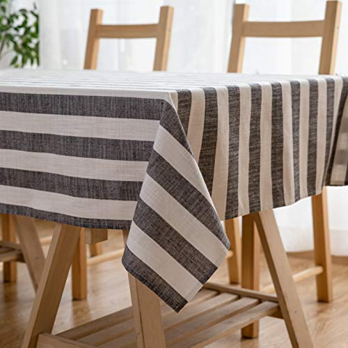 Aquazolax Weights Farmhouse Tablecloth Rustic Wedding Parties Stripe Pattern Table OverlayDecorations 54 X 84 Inch Black 0