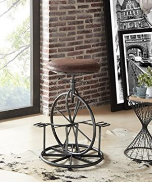 Armen Living Harlem Adjustable Barstool In Wrangler Fabric And Industrial Grey Metal Finish 0 300x360