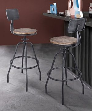 Armen Living Perlo Barstool Industrial Grey 0 300x360