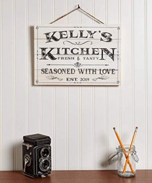Artblox Personalized Wall Decor Custom Gifts Kitchen Signs Rustic Country Kitchen Decor Farmhouse Decor Farmhouse Kitchen Decor Last Name Signs For Home Kitchen Farmhouse Sign 13x9 0 0 300x360
