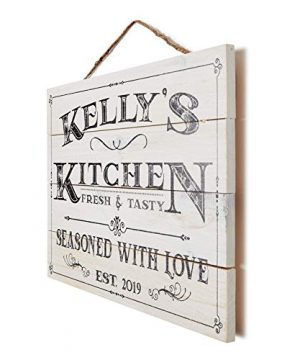 Artblox Personalized Wall Decor Custom Gifts Kitchen Signs Rustic Country Kitchen Decor Farmhouse Decor Farmhouse Kitchen Decor Last Name Signs For Home Kitchen Farmhouse Sign 13x9 0 3 300x360