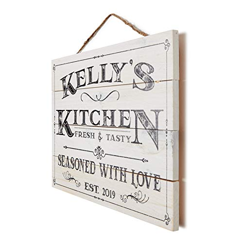 Artblox Personalized Wall Decor Custom Gifts Kitchen Signs Rustic Country Kitchen Decor Farmhouse Decor Farmhouse Kitchen Decor Last Name Signs For Home Kitchen Farmhouse Sign 13x9 0 3
