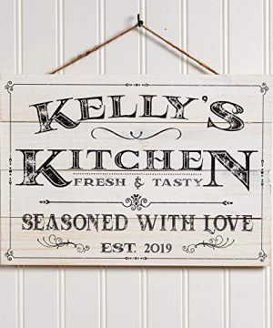 Artblox Personalized Wall Decor Custom Gifts Kitchen Signs Rustic Country Kitchen Decor Farmhouse Decor Farmhouse Kitchen Decor Last Name Signs For Home Kitchen Farmhouse Sign 13x9 0 300x360