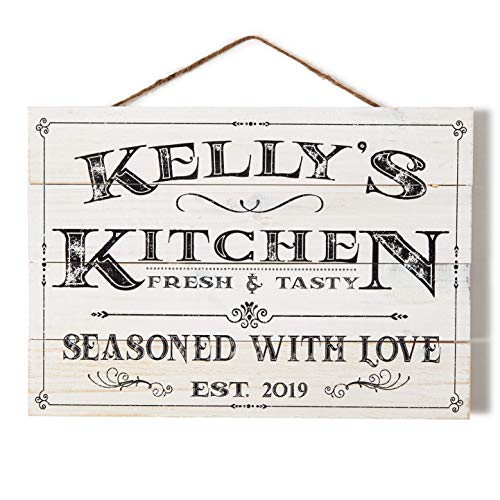 Artblox Personalized Wall Decor Custom Gifts Kitchen Signs Rustic Country Kitchen Decor Farmhouse Decor Farmhouse Kitchen Decor Last Name Signs For Home Kitchen Farmhouse Sign 13x9 0 5