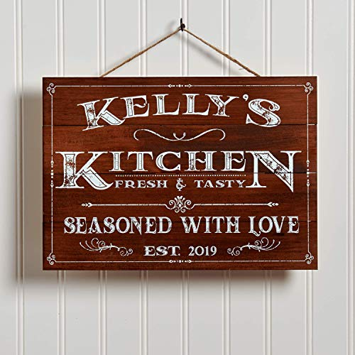 Artblox Personalized Kitchen Sign Customized Last Name Signs For Home Decor Farmhouse Kitchen Wall Decor For Mothers Farmhouse Goals