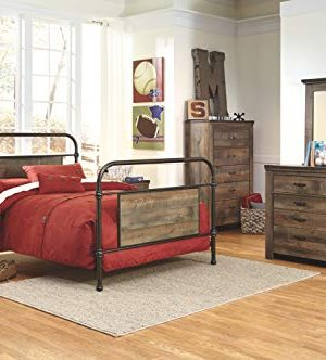 Ashley Furniture Signature Design Trinell Chest 5 Drawers Nailhead Accents Rustic Brown Finish Antiqued Bronze Hardware 0 4 300x332