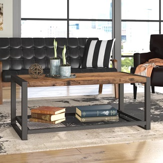 Austen Sled Coffee Table with Storage