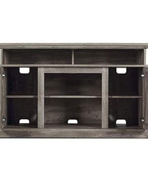 BELLEZE 48 Inch Wood Television Stand Console With Media Shelves Ashland Pine 0 0 300x360