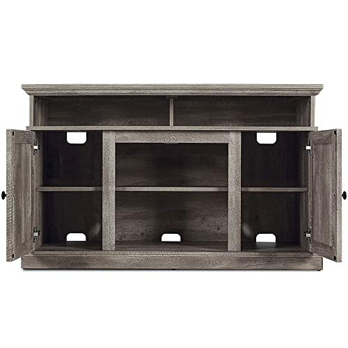 BELLEZE 48 Inch Wood Television Stand Console With Media Shelves Ashland Pine 0 0