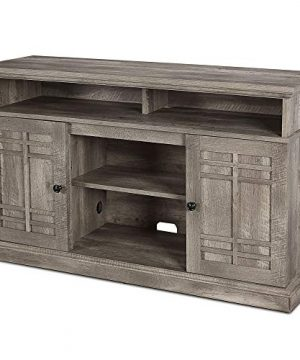BELLEZE 48 Inch Wood Television Stand Console With Media Shelves Ashland Pine 0 1 300x360