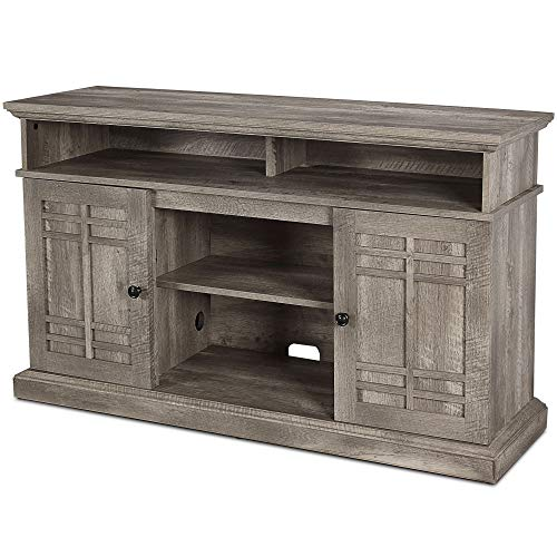 BELLEZE 48 Inch Wood Television Stand Console With Media Shelves Ashland Pine 0 1