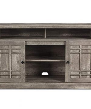 BELLEZE 48 Inch Wood Television Stand Console With Media Shelves Ashland Pine 0 300x360