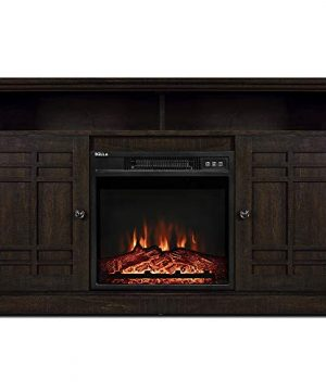 BELLEZE TV Stand Media Console Table Living Room Storage WElectric Fireplace Espresso 0 300x360