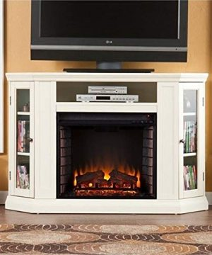 BOWERY HILL 48 Convertible Electric Fireplace TV Stand In Ivory 0 300x360