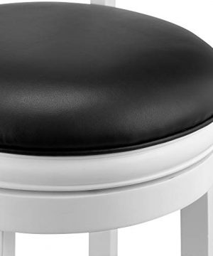 Ball Cast Jayden Hardwood Counter Height Swivel Bar Stool With Faux Leather Upholstery 24 Inch Farmhouse White 0 4 300x360