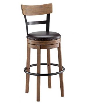 Ball Cast Swivel Bar Stool 30 Inch Seat Height Light Brown 0 300x360
