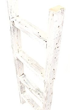 BarnwoodUSA Rustic Farmhouse Decorative Ladder Our 4ft 2x3 Ladder Can Be Mounted Horizontally Or Vertically Crafted From 100 Recycled And Reclaimed Wood No Assembly Required White 0 0 230x360