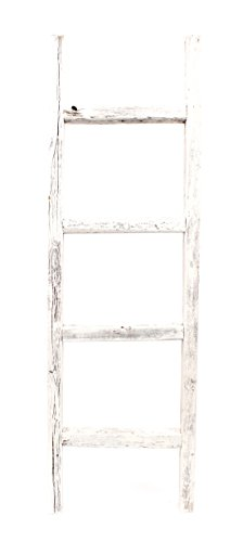BarnwoodUSA Rustic Farmhouse Decorative Ladder Our 4ft 2x3 Ladder Can Be Mounted Horizontally Or Vertically Crafted From 100 Recycled And Reclaimed Wood No Assembly Required White 0 3