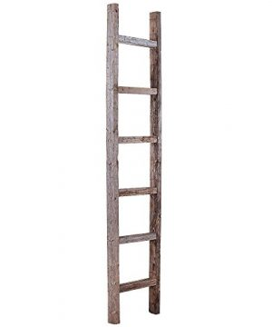 BarnwoodUSA Rustic Farmhouse Decorative Ladder Our 6ft 2x3 Ladder Can Be Mounted Horizontally Or Vertically Crafted From 100 Recycled And Reclaimed Wood No Assembly Required Weathered Gray 0 300x360
