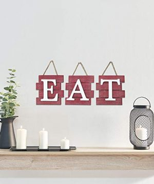 Barnyard Designs Eat Sign Wall Decor Rustic Farmhouse Decoration For Kitchen And Home Decorative Hanging Wooden Letters Country Wall Art Distressed Red And White 24 X 8 0 0 300x360