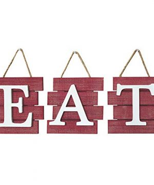Barnyard Designs Eat Sign Wall Decor Rustic Farmhouse Decoration For Kitchen And Home Decorative Hanging Wooden Letters Country Wall Art Distressed Red And White 24 X 8 0 300x360