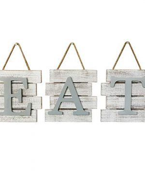 Barnyard Designs Eat Sign Wall Decor Rustic Farmhouse Decoration For Kitchen And Home Decorative Hanging Wooden Letters Country Wall Art Distressed White And Gray 24 X 8 0 300x360