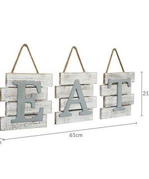 Barnyard Designs Eat Sign Wall Decor Rustic Farmhouse Decoration For Kitchen And Home Decorative Hanging Wooden Letters Country Wall Art Distressed White And Gray 24 X 8 0 4 300x360