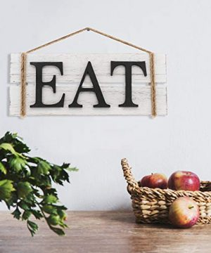 Barnyard Designs Eat Wood Wall Art Sign Rustic Primitive Farmhouse Country Kitchen And Home Wall Decor 17 X 7 0 0 300x360