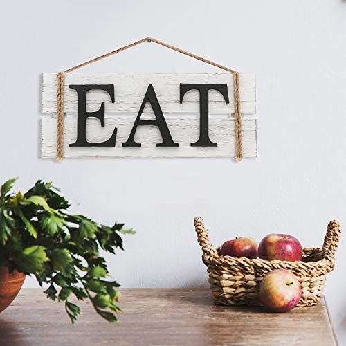 Barnyard Designs Eat Wood Wall Art Sign Rustic Primitive Farmhouse Country Kitchen And Home Wall Decor 17 X 7 0 0