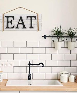 Barnyard Designs Eat Wood Wall Art Sign Rustic Primitive Farmhouse Country Kitchen And Home Wall Decor 17 X 7 0 1 300x360