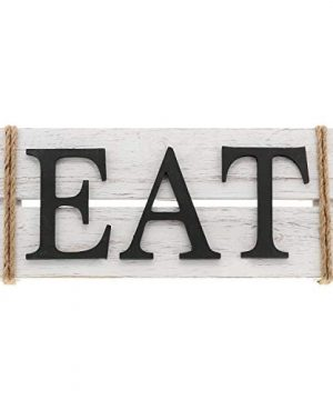 Barnyard Designs Eat Wood Wall Art Sign Rustic Primitive Farmhouse Country Kitchen And Home Wall Decor 17 X 7 0 300x360