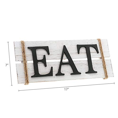 Barnyard Designs Eat Wood Wall Art Sign Rustic Primitive Farmhouse Country Kitchen And Home Wall Decor 17 X 7 0 4