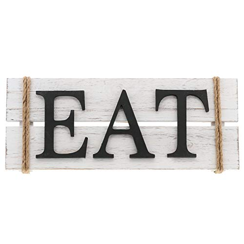 Barnyard Designs Eat Wood Wall Art Sign Rustic Primitive Farmhouse Country Kitchen And Home Wall Decor 17 X 7 0