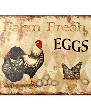Barnyard Designs Farm Fresh Eggs Retro Vintage Tin Bar Sign Country Home Decor 13 X 10 0 300x360