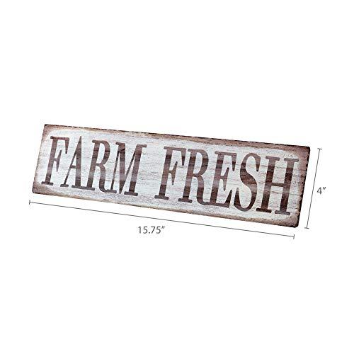 Barnyard Designs Farm Fresh Retro Vintage Tin Bar Sign Country Home Decor 1575 X 4 0 3