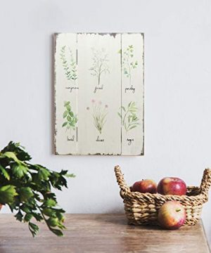 Barnyard Designs Kitchen Herbs And Spices Wooden Plaque Botanical Print Sign Rustic Country Farmhouse Wall Art Decor 1575 X 1175 0 0 300x360