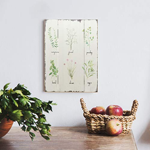 Barnyard Designs Kitchen Herbs And Spices Wooden Plaque Botanical Print Sign Rustic Country Farmhouse Wall Art Decor 1575 X 1175 0 0