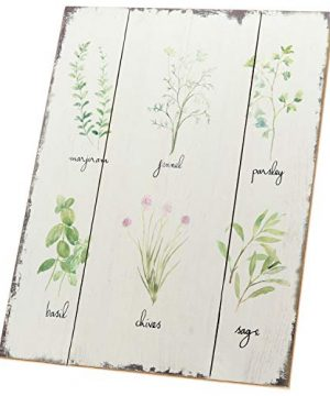 Barnyard Designs Kitchen Herbs And Spices Wooden Plaque Botanical Print Sign Rustic Country Farmhouse Wall Art Decor 1575 X 1175 0 1 300x360