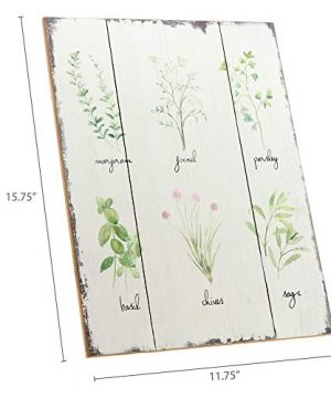 Barnyard Designs Kitchen Herbs And Spices Wooden Plaque Botanical Print Sign Rustic Country Farmhouse Wall Art Decor 1575 X 1175 0 3 300x360