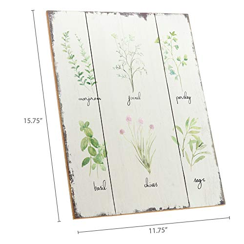 Barnyard Designs Kitchen Herbs And Spices Wooden Plaque Botanical Print Sign Rustic Country Farmhouse Wall Art Decor 1575 X 1175 0 3