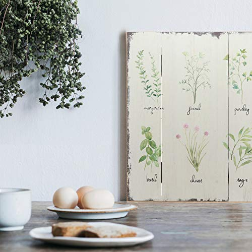 Barnyard Designs Kitchen Herbs And Spices Wooden Plaque Botanical Print Sign Rustic Country Farmhouse Wall Art Decor 1575 X 1175 0