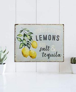 Barnyard Designs When Life Gives You Lemons Add Salt Tequila Funny Retro Vintage Tin Bar Sign Country Home Decor 13 X 10 0 1 300x360