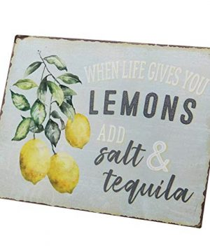 Barnyard Designs When Life Gives You Lemons Add Salt Tequila Funny Retro Vintage Tin Bar Sign Country Home Decor 13 X 10 0 2 300x360